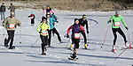 DEADWOOD, SD - JANUARY 23, 2016 -- Snowshoers and cross-country skiers start their respective races during the 2016 Snow Jam Series at Tomahawk Country Club south of Deadwood, S.D. Saturday.  (Photo by Richard Carlson/dakotapress.org)