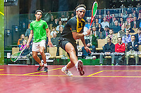 Karim Darwish (EGY) vs.  Tarek Momen (EGY) in the first round of the 2014 METROsquash Windy City Open held at the University Club of Chicago in Chicago, IL on February 27, 2014