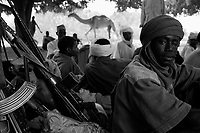 Western Sudan, June 3, 2004.A group from 'SLA' rebels near the border with Tchad.