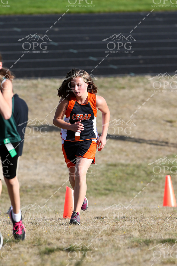 2016-2017 Cedar Heights Middle School Cross Country Girls 7-8 Action 09-29-16