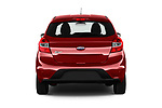 Straight rear view of 2017 Ford KA+ Ultimate 5 Door Hatchback Rear View  stock images