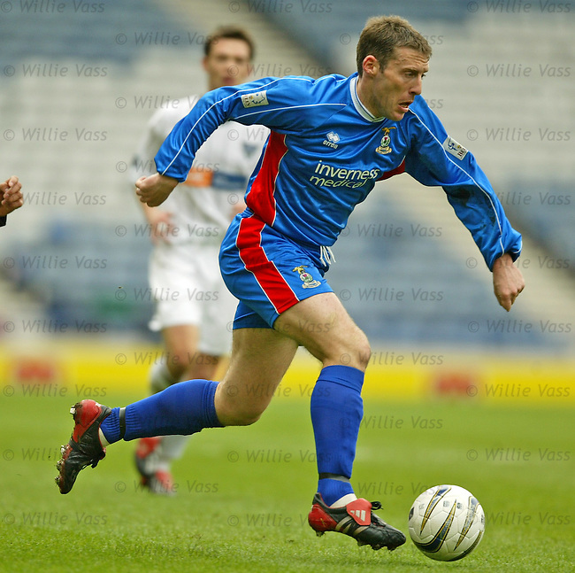 Barry Wilson, Inverness Caledonian Thistle.stock season 2003-2004.pic willie vass
