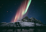 The aurora borealis flares above the Brooks Range, Alaska