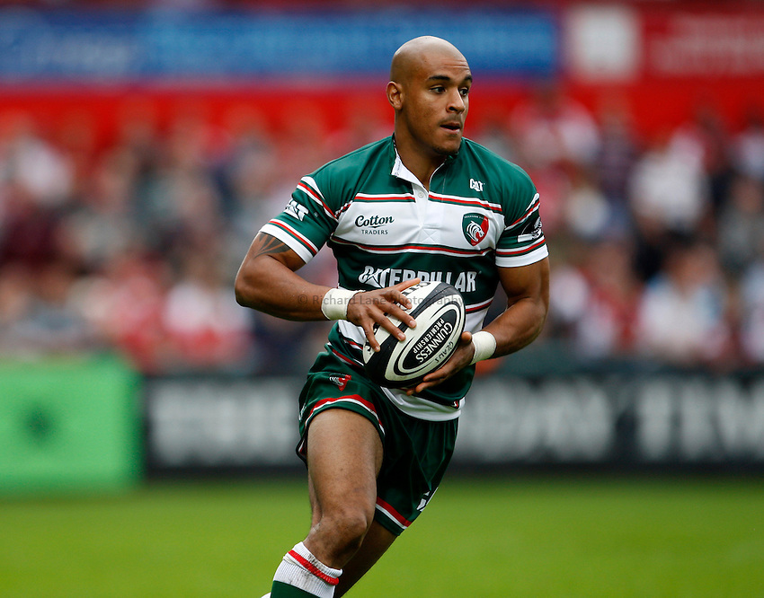 Photo: Richard Lane/Richard Lane Photography. Gloucester Rugby v Leicester Tigers. Guinness Premiership. 07/09/2008. Tigers' Tom Varndell.