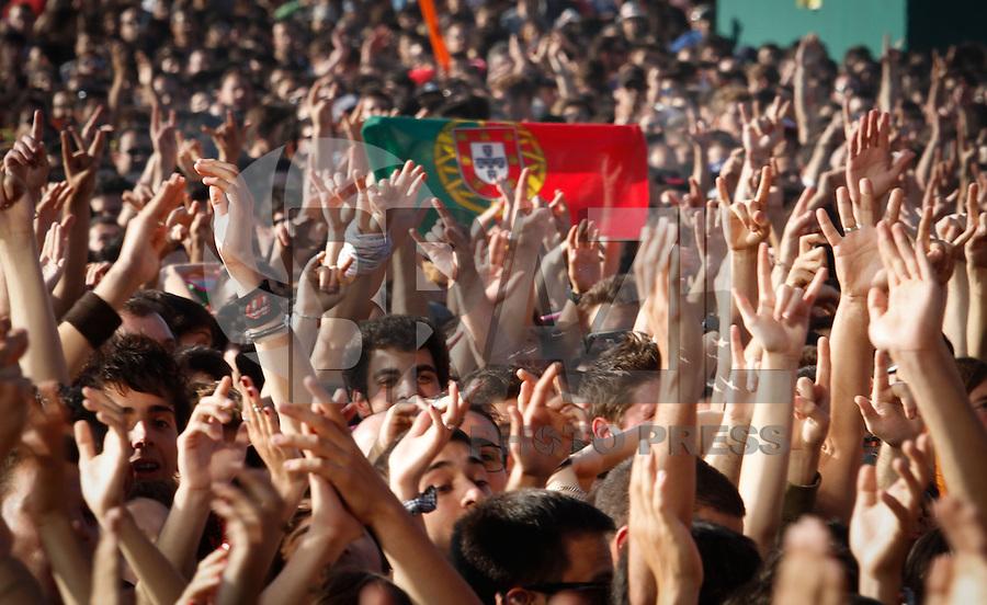 LISBOA, PORTUGAL, 26 DE MAIO 2012 - ROCK IN RIO LISBOA - LIMP BIZKIT  - Apresentacao da banda Limp Bizkit no palco Mundo, no segundo dia do Rock In Rio Lisboa na cidade do Rock em Lisboa Portugal nessa sexta feira 25. FOTO: VANESSA CARVALHO - BRAZIL PHOTO PRESS.
