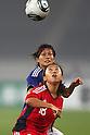(L to R) Nahomi Kawasumi (JPN), Qu Shanshan (CHN), September 11, 2011 - Football / Soccer : Women's Asian Football Qualifiers Final Round for London Olympic Match between Japan 1-0 China at Jinan Olympic Sports Center Stadium, Jinan, China. (Photo by Daiju Kitamura/AFLO SPORT) [1045]