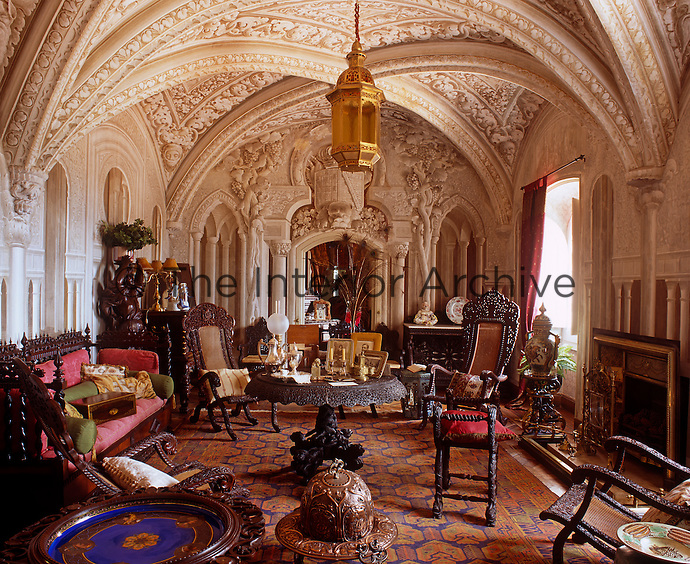 In The Arab Room Trompe Loeil Oriental Architecture Heightens And Elongates Space
