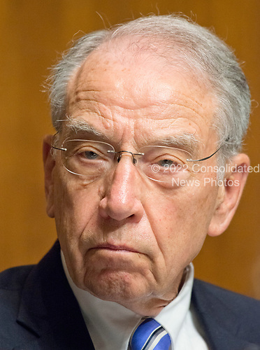 United States Senator Charles Grassley (Republican of Iowa), Chairman, US Senate Committee on the Judiciary listens as Christopher A. Wray testifies on his nomination to be Director of the Federal Bureau of Investigation (FBI) before the committee on Capitol Hill in Washington, DC on Wednesday, July 12, 2017.<br /> Credit: Ron Sachs / CNP<br /> (RESTRICTION: NO New York or New Jersey Newspapers or newspapers within a 75 mile radius of New York City)