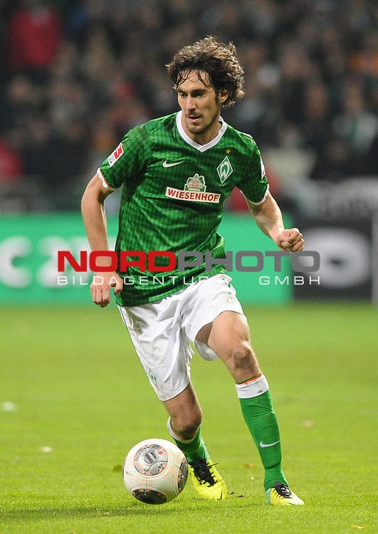 03.11.2013, Weserstadion, Bremen, GER, 1.FBL, Werder Bremen vs Hannover 96, im Bild Santiago Garcia (Bremen #2)<br /> <br /> Foto &copy; nph / Frisch
