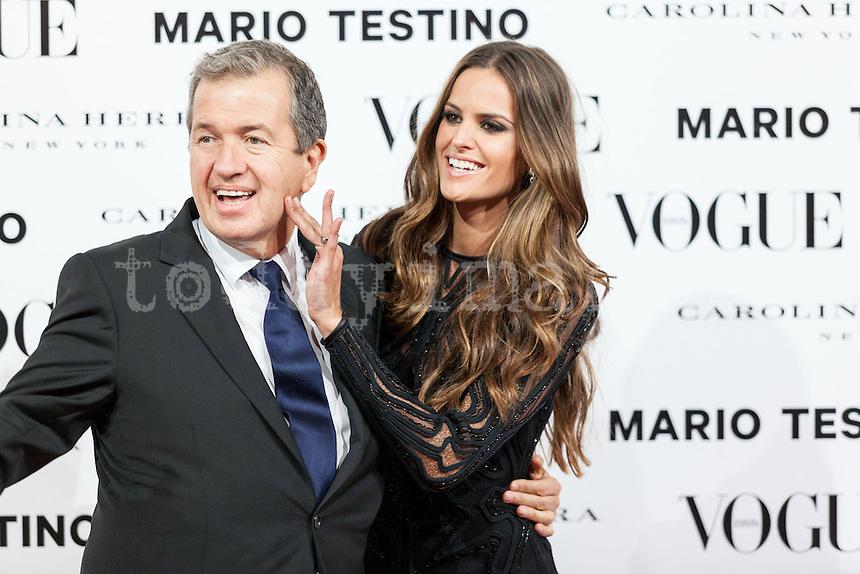 Mario Testino and Alessandra Ambrosio at Vogue December Issue Mario Testino Party