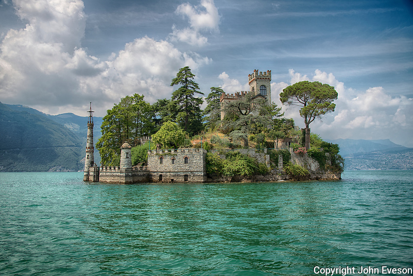 Isola di Loreto on Lake Iseo, Lombardy, Italy.