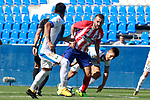 CD Leganes' Mauro Dos Santos (l) and Unai Bustinza (r) and Atletico de Madrid's Keidi Bare during friendly match. August 12,2017. (ALTERPHOTOS/Acero)