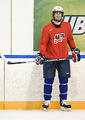 Luke Walker (USA - 14) - Team USA practiced at the Agriplace rink on Monday, December 28, 2009, in Saskatoon, Saskatchewan, during the 2010 World Juniors tournament.