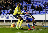 Blackburn Rovers' Amari'i Bell  competing with Reading's Andy Yiadom  <br /> <br /> Photographer Andrew Kearns/CameraSport<br /> <br /> The EFL Sky Bet Championship - Reading v Blackburn Rovers - Wednesday 13th February 2019 - Madejski Stadium - Reading<br /> <br /> World Copyright © 2019 CameraSport. All rights reserved. 43 Linden Ave. Countesthorpe. Leicester. England. LE8 5PG - Tel: +44 (0) 116 277 4147 - admin@camerasport.com - www.camerasport.com