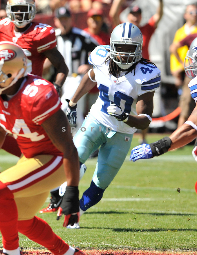DANNY MCCRAY, of the Dallas Cowboys, in action during the Cowboy's game against the 49ers on September 18, 2011 at Candlestick Park in San Francisco, CA. The Cowboys beat the 49ers 27-24 in OT.