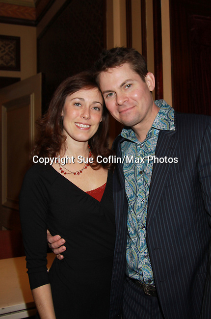 As The World Turns Trent Dawson poses with fiancee Sharron as he is a part of Still Sassy with songs and stories on October 30, 2011 at Feinsteins, New York City, New York. (Photo by Sue Coflin/Max Photos)