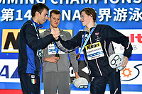 Paltrinieri Gregorio ITA Silver MEdal <br /> ROMANCHUK Mykhailo UKR Gold Medal<br /> CHRISTIANSEN Henrik NOR Bronze MEdal  <br /> Men's 1500m Freestyle <br /> Hangh Zhou 16/12/2018 <br /> Hang Zhou Olympic & International Expo Center <br /> 14th Fina World Swimming Championships 25m <br /> Photo Andrea Staccioli/ Deepbluemedia /Insidefoto