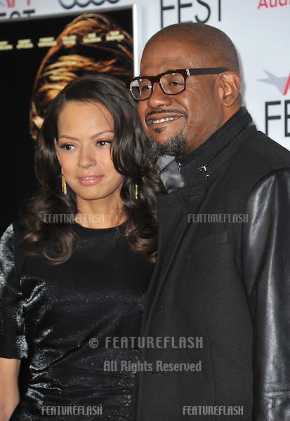 Forest Whitaker &amp; wife Keisha at the Los Angeles premiere of his movie &quot;Out of the Furnace&quot;, part of the AFI Fest 2013, at the TCL Chinese Theatre, Hollywood.<br /> November 9, 2013  Los Angeles, CA<br /> Picture: Paul Smith / Featureflash