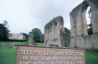 Glastobury Abbey, sommerset, England