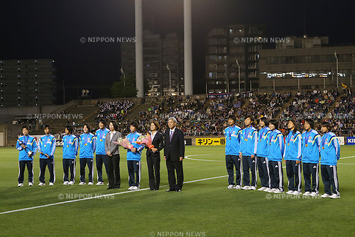 U-17U17 Japan team group (JPN),<br /> MAY 6, 2014 - Football /Soccer :  <br /> International friendly match<br /> between Japan 2-1 New Zealand <br /> at Kincho Stadium, Osaka, Japan. (Photo by Yohei Osada/AFLO SPORT)