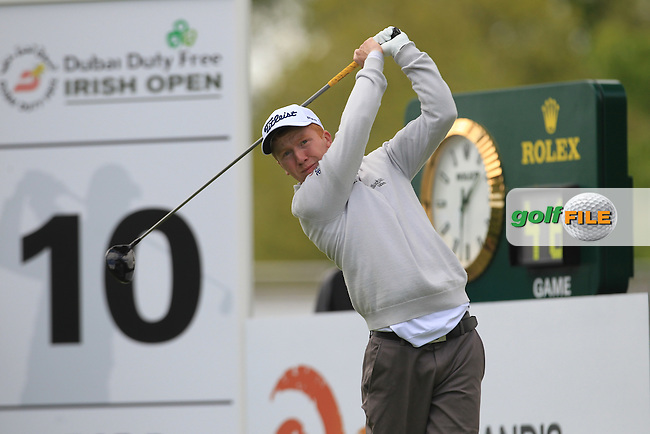 Gavin Moynihan (IRL) during Thursday's Round 1 ahead of the 2016 Dubai Duty Free Irish Open Hosted by The Rory Foundation which is played at the K Club Golf Resort, Straffan, Co. Kildare, Ireland. 19/05/2016. Picture Golffile | TJ Caffrey.<br />