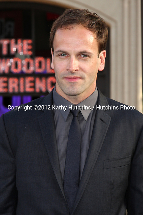 """LOS ANGELES - MAY 7:  Jonny Lee Miller arrives at the """"Dark Shadows"""" - Los Angeles Premiere at Graumans Chinese Theater on May 7, 2012 in Los Angeles, CA"""