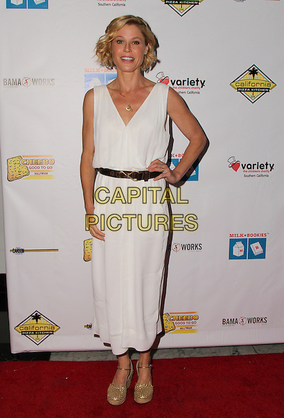 LOS ANGELES, CA - APR 17: Julie Bowen attends Milk + Bookies 7th Annual Story Time Celebration, Apr 17 2016 - California Market Center - Los Angeles, California United States. <br /> CAP/MPIPA<br /> &copy;MPIPA/Capital Pictures