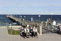 Promenade in Kühlungsborn-Ost, Mecklenburg-Vorpommern, Deutschland