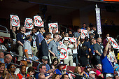 Anti-TPP signs in the Oregon Delegation at the 2016 Democratic National Convention held at the Wells Fargo Center in Philadelphia, Pennsylvania on Saturday, July 23, 2016.<br /> Credit: Ron Sachs / CNP<br /> (RESTRICTION: NO New York or New Jersey Newspapers or newspapers within a 75 mile radius of New York City)