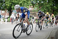 Tom Boonen (BEL/Etixx-QuickStep) racing on home turf (and leading the race at this point) today in the Heistse Pijl 2016