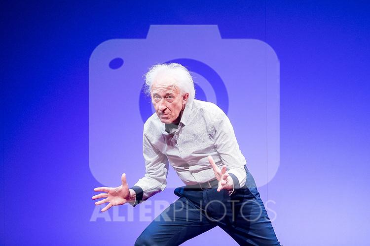 Albert Boadella during theater play &quot;El sermon del bufon&quot; at Teatro Marquina in Madrid, April 20, 2017. Spain.<br /> (ALTERPHOTOS/BorjaB.Hojas)