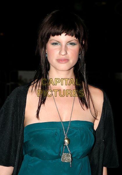 "JEMIMA ROOPER.UK Premiere of ""Kinky Boots"" at the Vue West End, Leicester Square, London..October 4th, 2005.half length blue green necklace .www.capitalpictures.com.sales@capitalpictures.com.© Capital Pictures."