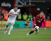West Ham United's Aaron Cresswell (left) and Bournemouth's Harry Wilson (right) <br /> <br /> Photographer David Horton/CameraSport<br /> <br /> The Premier League - Bournemouth v West Ham United - Saturday 28th September 2019 - Vitality Stadium - Bournemouth<br /> <br /> World Copyright © 2019 CameraSport. All rights reserved. 43 Linden Ave. Countesthorpe. Leicester. England. LE8 5PG - Tel: +44 (0) 116 277 4147 - admin@camerasport.com - www.camerasport.com