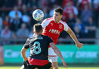 Fleetwood Town&rsquo;s Bobby Grant and Walsall's Florent Cuvelier <br /> <br /> Photographer Leila Coker/CameraSport<br /> <br /> The EFL Sky Bet League One - Fleetwood Town v Walsall - Saturday 5th May 2018 - Highbury Stadium - Fleetwood<br /> <br /> World Copyright &copy; 2018 CameraSport. All rights reserved. 43 Linden Ave. Countesthorpe. Leicester. England. LE8 5PG - Tel: +44 (0) 116 277 4147 - admin@camerasport.com - www.camerasport.com