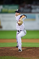 Staten Island Yankees relief pitcher Josh Roeder (14) during a game against the Batavia Muckdogs on August 27, 2016 at Dwyer Stadium in Batavia, New York.  Staten Island defeated Batavia 13-10 in eleven innings.  (Mike Janes/Four Seam Images)