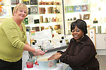 Mary Ryan of Green Angel giving Hand Treatments in the Cottage Pharmacy...Picture Jenny Matthews/Newsfile.ie
