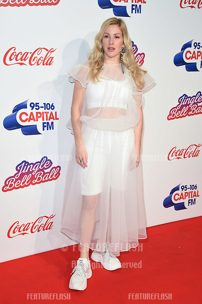 LONDON, UK. December 08, 2018: Ellie Goulding at Capital's Jingle Bell Ball 2018 with Coca-Cola, O2 Arena, London.<br /> Picture: Steve Vas/Featureflash