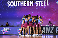 4th July 2020, Auckland, New Zealand;  Southern Steel.<br /> Central Pulse versus Southern Steel. ANZ Premiership Netball. Auckland Netball Centre, Saturday 4 July 2020.