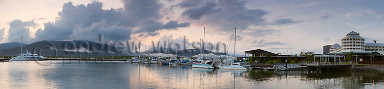 Marina Point at daawn.  Cairns, Queensland, Australia