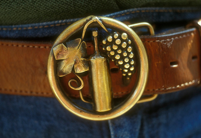 Belt buckle seen at Napa Valley party