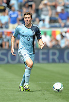 Matt Besler (5) defender Sporting KC in action..Sporting Kansas City and Houston Dynamo played to a 1-1 tie at Sporting Park, Kansas City, Kansas.