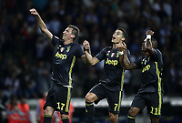 Calcio, Serie A: Parma - Juventus, Parma stadio Ennio Tardini, 1 settembre 2018.<br /> Juventus' Mario Mandzukic (l) Cristiano Ronaldo (r) celebrate after winning 2-1 the Italian Serie A football match between Parma and Juventus at Parma's Ennio Tardini stadium, September 1, 2018. <br /> UPDATE IMAGES PRESS/Isabella Bonotto