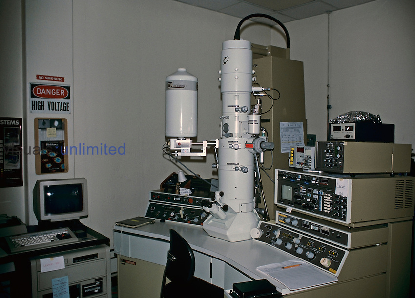 A Transmission Electron Microscope, JEOL 100C X II.
