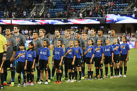 San Jose, CA - Wednesday September 27, 2017: San Jose Earthquakes  during a Major League Soccer (MLS) match between the San Jose Earthquakes and the Chicago Fire at Avaya Stadium.