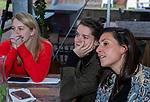 VOGELENZANG -  Lidewij Welten met Malou Pheninckx (Ned) en Julia Remmerswaal. Spelerslunch KNHB 2019.   COPYRIGHT KOEN SUYK