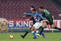 Adam Ounas Napoli <br /> Napoli 13-01-2019  Stadio San Paolo <br /> Football Calcio Coppa Italia 2018/2019 round of 16  <br /> Napoli - Sassuolo<br /> Foto Cesare Purini / Insidefoto