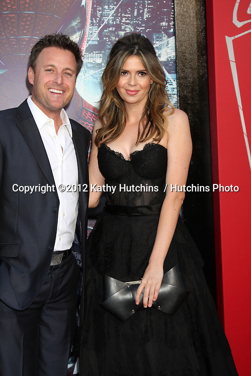 """LOS ANGELES - JUN 28:  Chris Harrison, Carly Steel arrives at the """"The Amazing Spider-Man"""" Premiere at Village Theater on June 28, 2012 in Westwood, CA"""