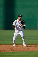 Jackson Generals shortstop Galli Cribbs Jr. (2) during a Southern League game against the Mississippi Braves on July 23, 2019 at The Ballpark at Jackson in Jackson, Tennessee.  Jackson defeated Mississippi 2-0 in the first game of a doubleheader.  (Mike Janes/Four Seam Images)
