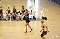 29.10.2015 Silver Ferns Leana de Bruin in action during the Silver Ferns training ahead of the final test match against the Australian Diamonds in Perth Australia. Mandatory Photo Credit ©Michael Bradley.