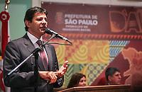 SAO PAULO, SP, 27 MAIO 2013 - LULA DIA DA AFRICA - Fernando Haddad prefeito de Sao Paulo durante evento D'África-São Paulo, que celebra o Dia da África na sede da prefeitura de Sao Paulo na regiao central da cidade nesta segunda-feira, 27. FOTO: VANESSA CARVALHO - BRAZIL PHOTO PRESS.